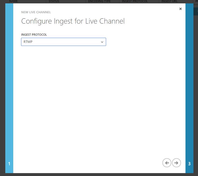 Azure Media Services Live Channel Protocol